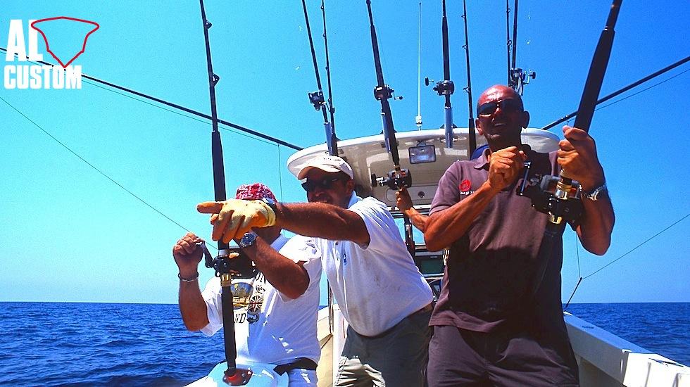 Pesca in traina d'altura: il posizionamento delle esche artificiali.