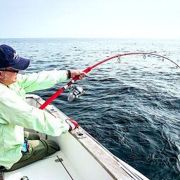 Il combattimento fra un fisherman e una preda da record richiede attrezzatura adeguata