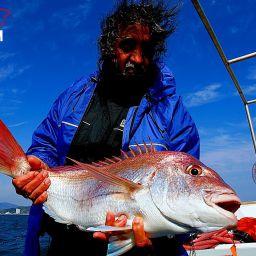 A pesca con i kabura, speciali artificiali con il piccolo corpo metallico ornati con un gonnellino multicolore di filamenti di gomma e due ami.