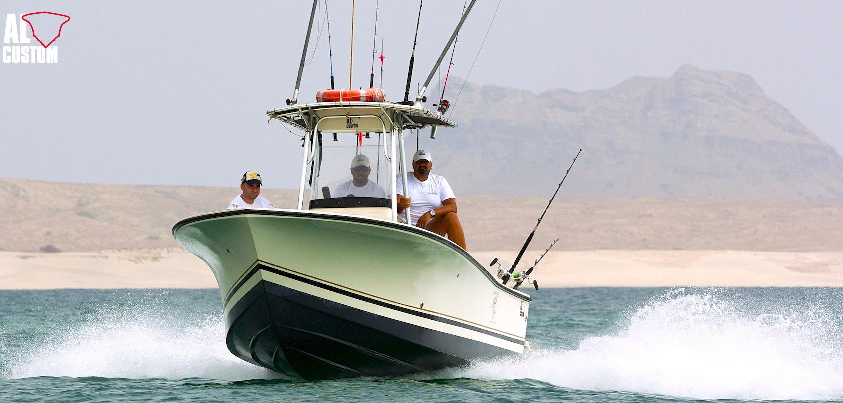 Boa Vista, Capo Vede: fisherman AL CUSTOM AL21, imbarcazione del Centro Pesca Sampeifish.