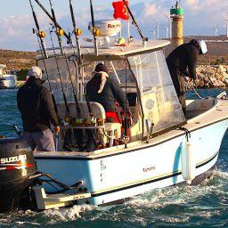 AL CUSTOM - RAYMARINE Tournament Team: AL25 in uscita dal porto per partecipare alla seconda manche dell'International Fishing Tournament