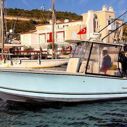 AL CUSTOM AL25, sport fishing boat, fisherman, Andrea Lia, Alacati, Turchia.