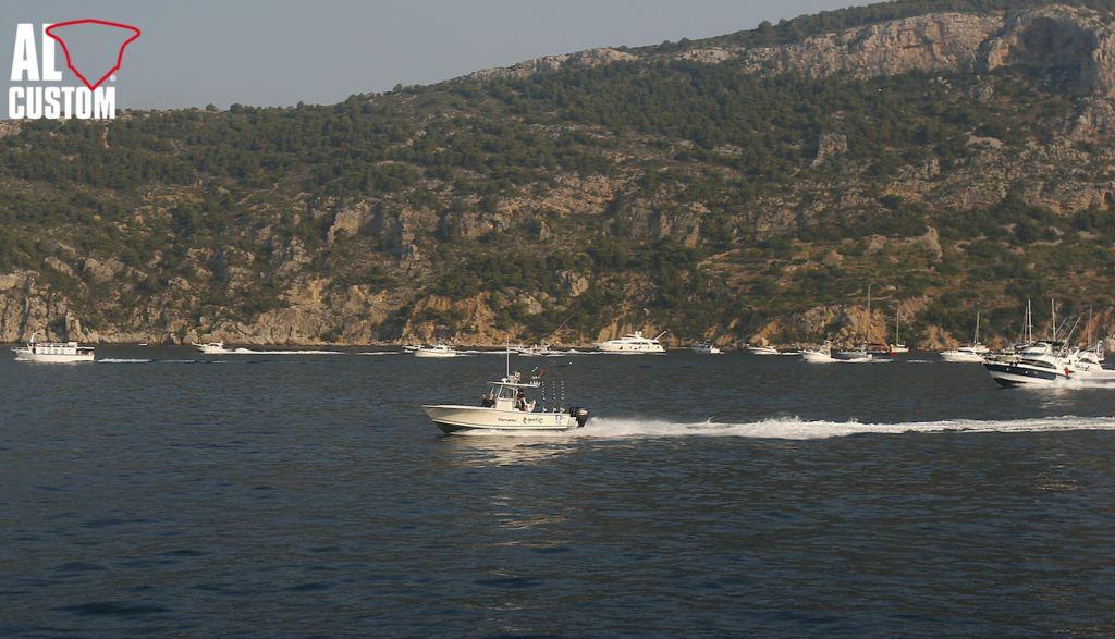 AL CUSTOM AL25, sportfishing boat. Motori Suzuki, elettronica Raymarine.