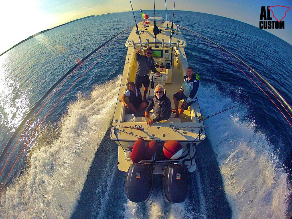 fisherman AL CUSTOM AL25. Sportfishing boat.