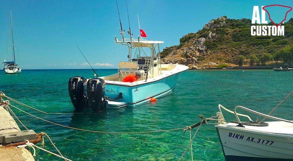 AL CUSTOM AL25, traina col vivo nelle acque del Mar Egeo.