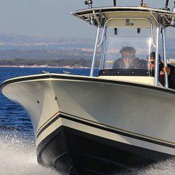 Fishing boat AL21: center console, 7 mt (23 ft), motorizzata Suzuki DF175, elettronica Raymarine.