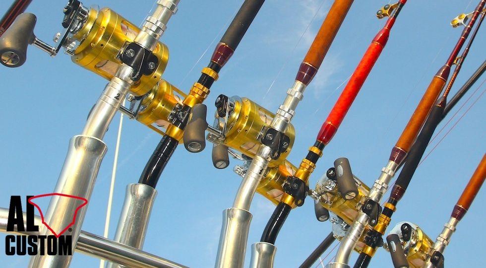 Fishing tackle, canne da pesca, mulinelli da traina. Aguglie imperiali a traina d'altura.
