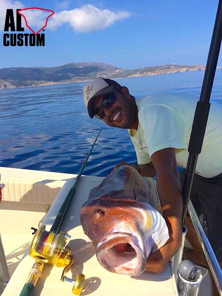 Traina col vivo al dentice su fishingboat ALCUSTOM AL21. I segreti della tecnica di pesca.
