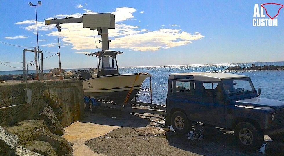 fishingboat ALCUSTOM AL21: fisherman in carbonio. Carolina flare, deepvee.