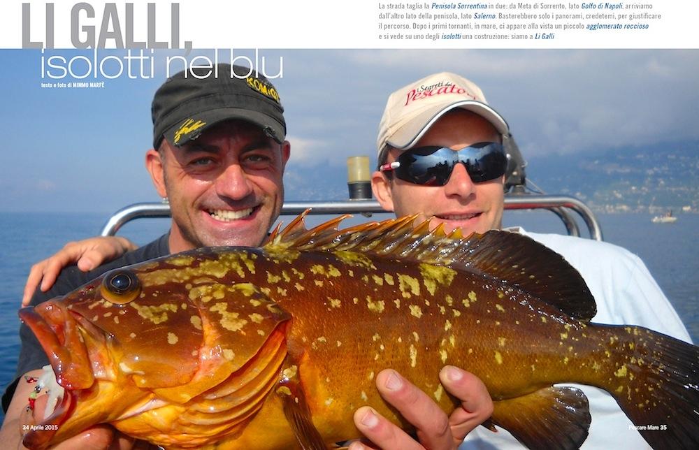 A pesca nella penisola sorrentina: Li Galli, isolotti nel blu