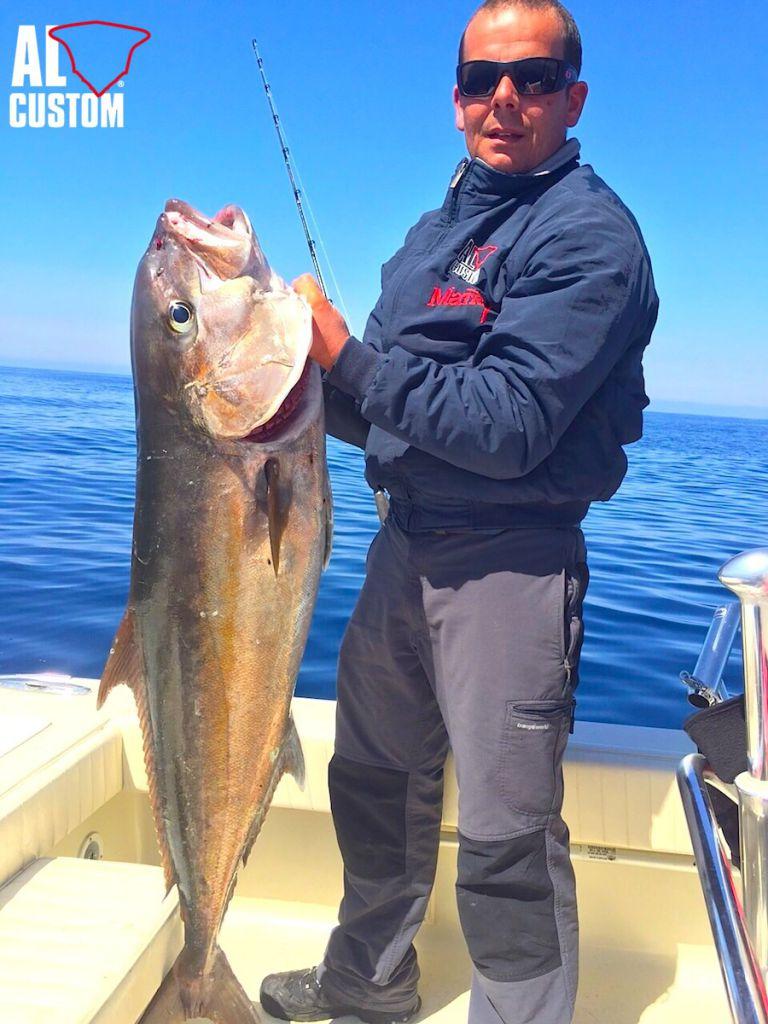 """Traina col vivo alla ricciola a bordo della fishingboat AL21 """"Matrix"""". A pesca in Corsica"""