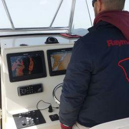 """fishing boat ALCUSTOM AL25 """"Portofino"""": elettronica Raymarine, abbigliamento ALCUSTOM"""