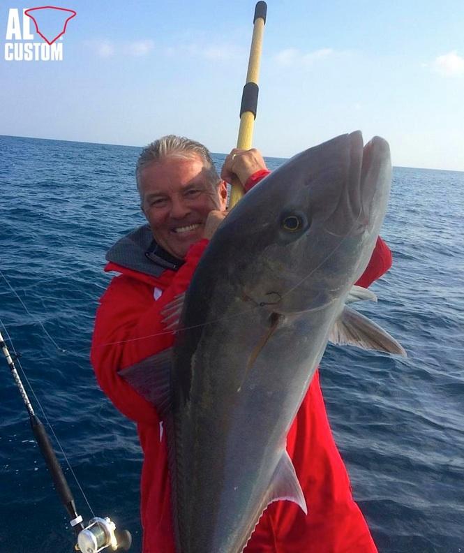 ALCUSTOM AL25 Raptor fishing boat: live bait trolling in Salento.