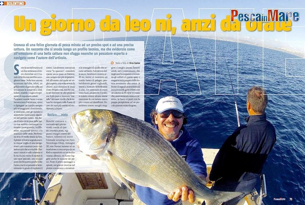 La pesca delle orate e bolentino. Pesca dalla barca