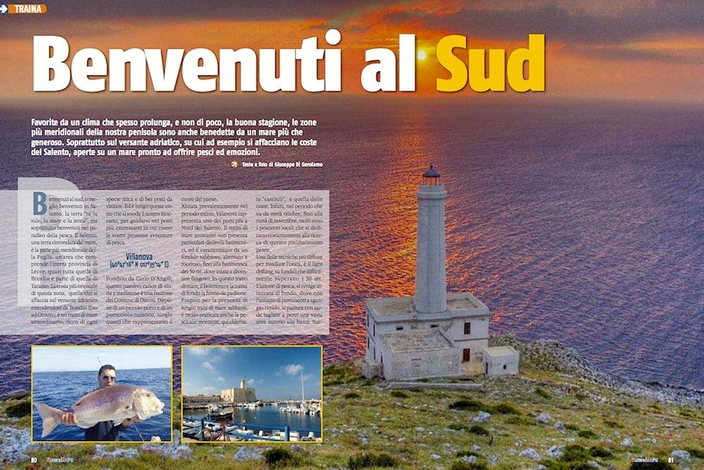 Pesca a traina: Mar Adriatico, le coste del Salento.
