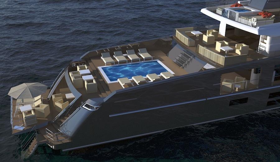 Nemo 44: Sport Utility Yacht di 44 metri interamente in alluminio ideato da Aldo Manna.