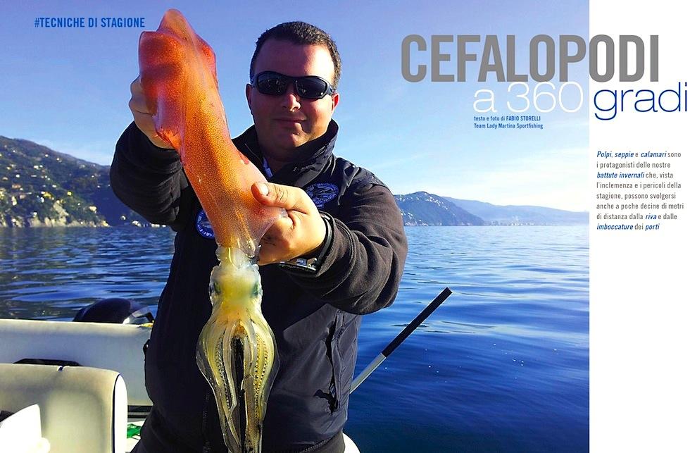 La pesca invernale a totani, calamari e polpi, da riva o a bordo di attrezzate fishing boat. Le esche artificiali-