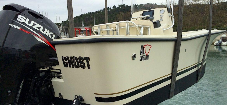 Fishing boat ALCUSTOM AL19, motorizzata con un fuoribordo Suzuki DF90, elettronica Raymarine.