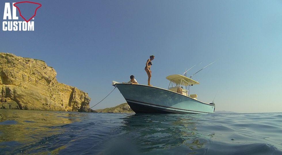 ALCUSTOM AL25: fishing boat realizzato in fibra di carbonio.