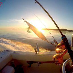 Fishing boat ALCUSTIOM AL25 Katana, di base nel porto di Alaçati (Turchia)