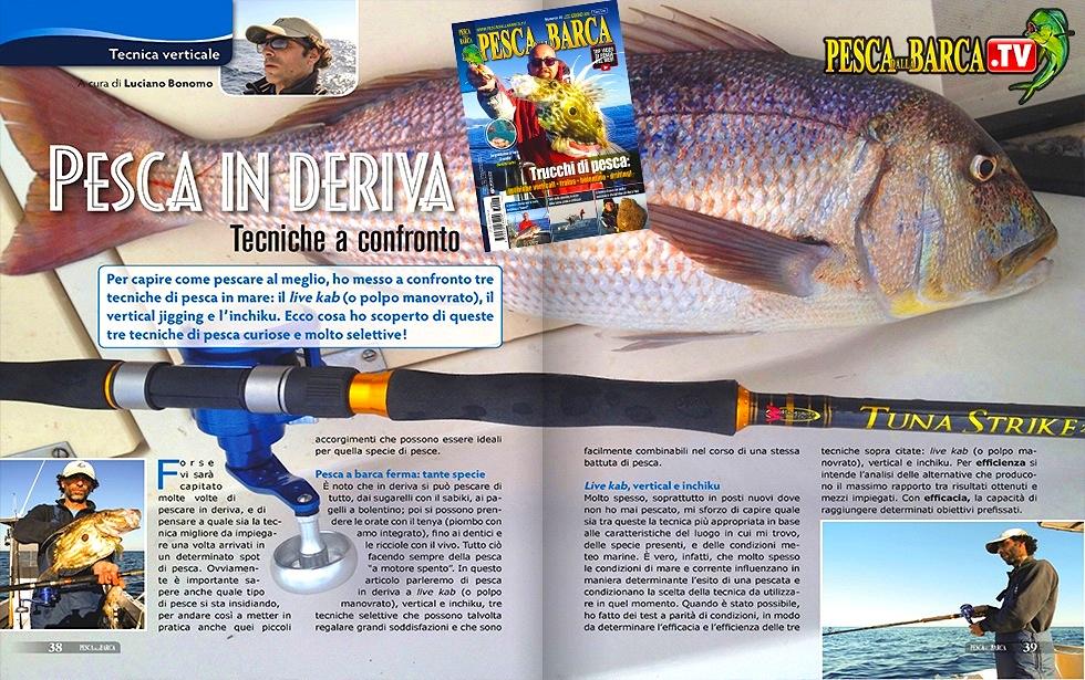 Pesca in verticale: tecniche a confronto. Live Kab, vertical jigging e inchiku