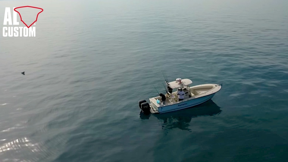 "Fishing boat ALCUSTOM AL25 ""Duo II"": fisherman in fibra di carbonio."