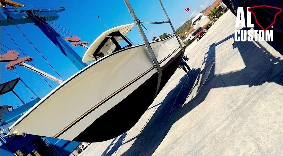 Fishing boat ALCUSTOM AL30 cuddy: consegna nel porto di Alaçati (Turchia)