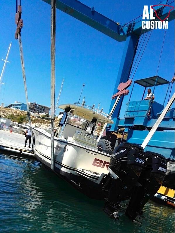 Fisherman AL30: nuova consegna nel porto di Alaçati per il cantiere guidato da Andrea Lia. La flotta ALCUSTOM in Turchia.