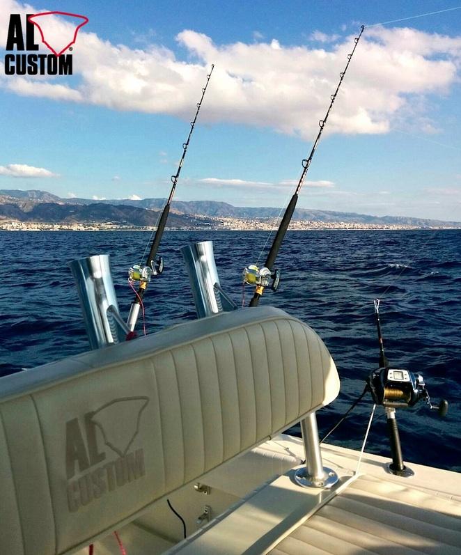 Pesca a kite fishing nell Stretto di Messina a bordo della fishing boat ALCUSTOM AL30 Dalù