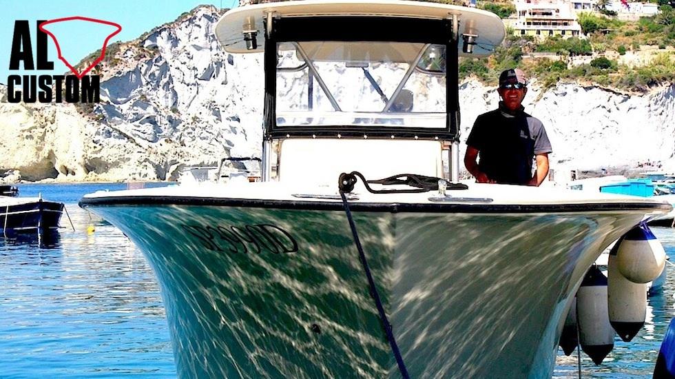 fishing boat ALCUSTOM AL30: fisherma realizzato in carbonio
