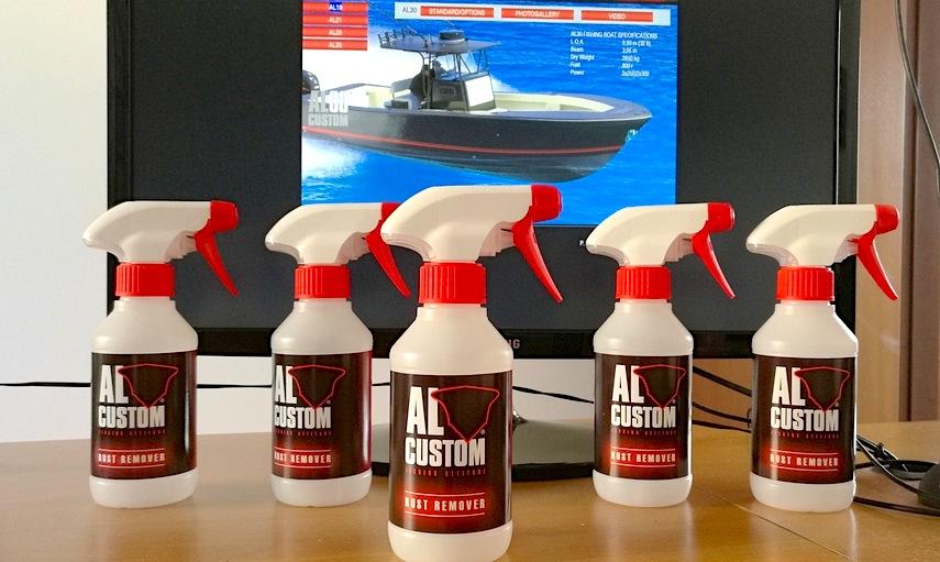 Rust Remover ALCUSTOM: può essere applicato direttamente su acciai e sulla vetroresina per rimuovere le colate di ruggine