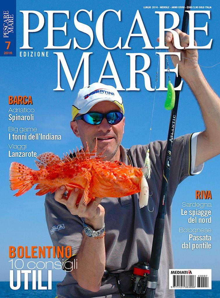PESCARE MARE - Anteprima del numero di luglio 2016 in edicola. Rivista dedicata alla pesca sportiva in mare.