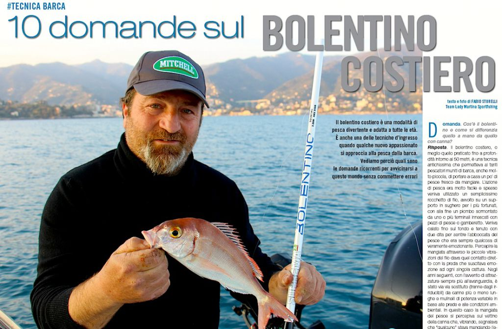 Bolentino costiero: tecnica di pesca e fishing tackle