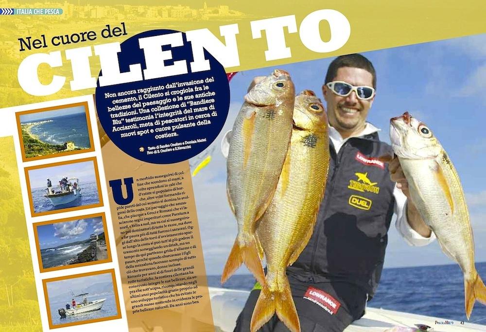 A pesca nel Cilento alla ricerca di nuovi hotspot di pesca. A pesca nel Cilento