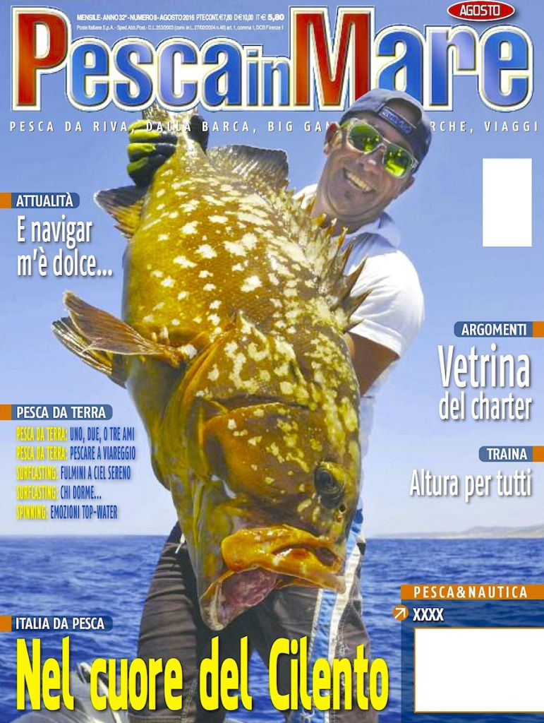 PESCARE MARE - Anteprima del numero di lagosto 2016 in edicola. Rivista dedicata alla pesca sportiva in mare.