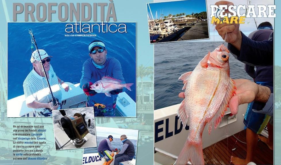 Pesca a Lanzarote (Arcipelago delle Canarie). Pesca in Oceano.