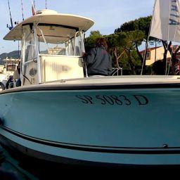 """Sport fishing boat ALCUSTOM AL25 """"Duo II"""": le riprese del nuovo video della serie AL Captains"""