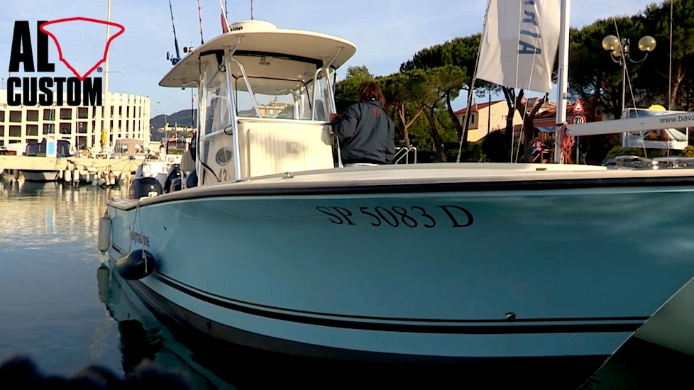 "Sport fishing boat ALCUSTOM AL25 ""Duo II"": le riprese di un nuovo video."