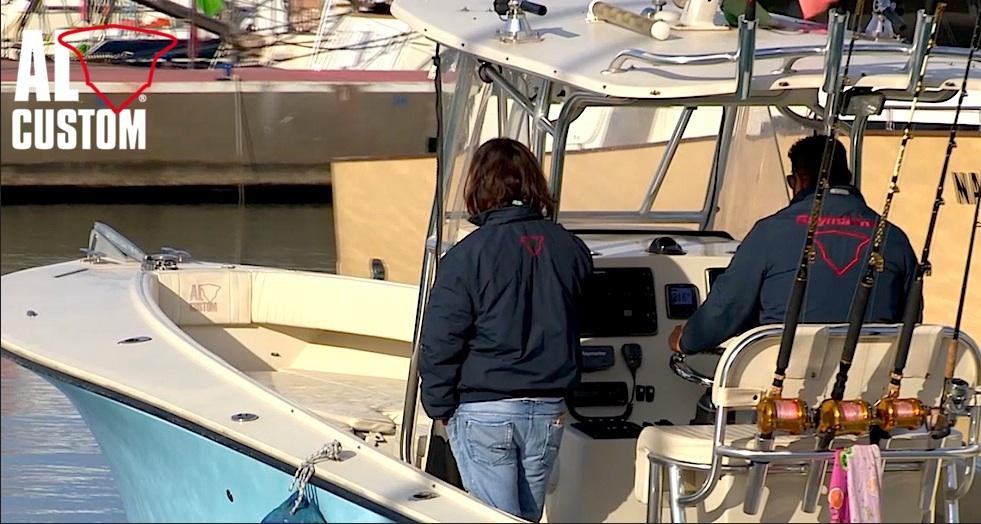 """Fishing boat ALCUSTOM AL25 """"Duo II"""" in navigazione nel levante ligure. Nuova clip della serie AL Captains Video"""