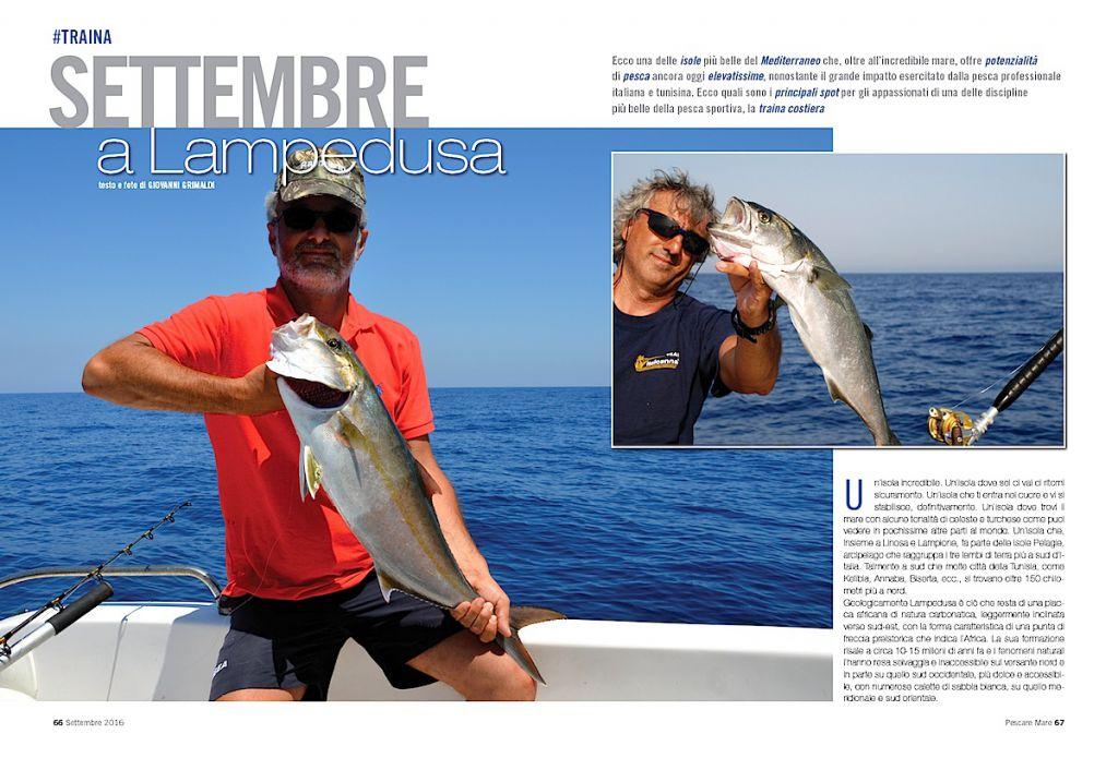 Viaggi di pesca: traina costiera a Lampedusa. Splendidi hot spot per la traina.