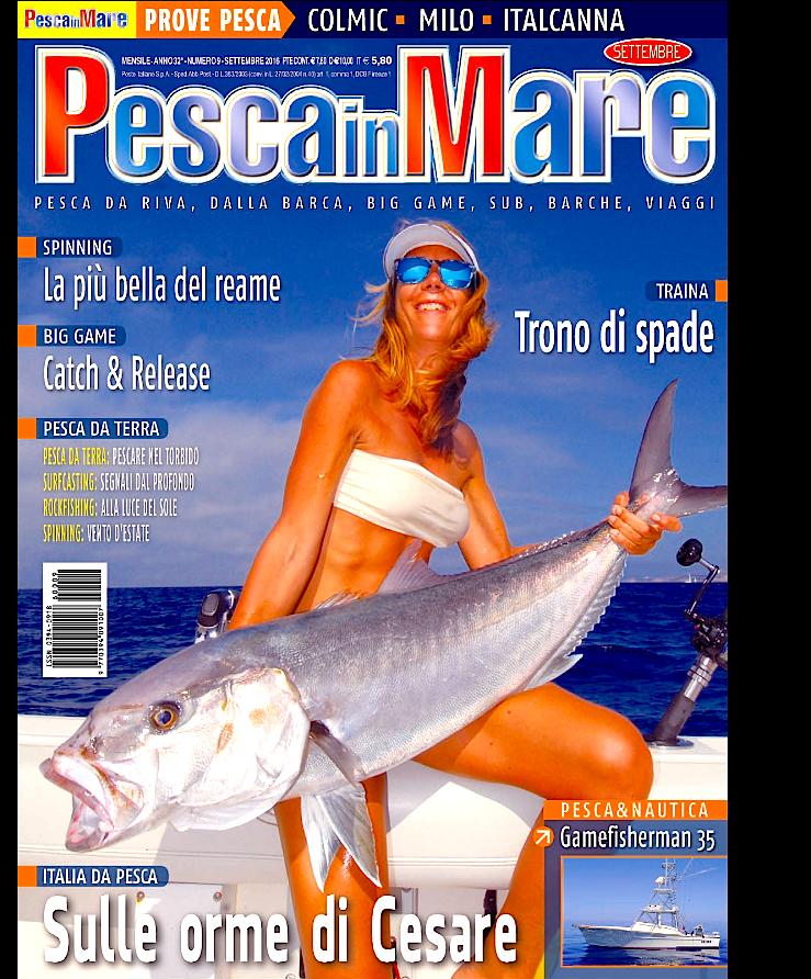Pesca in mare, rivista di pesca. In anteprima il numero di settembre 2016