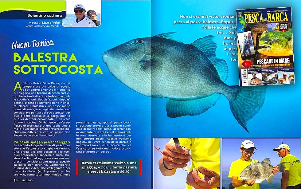 la pesca dalla barca del pesce balestra. La tecnica spiegata da Marco Volpi.