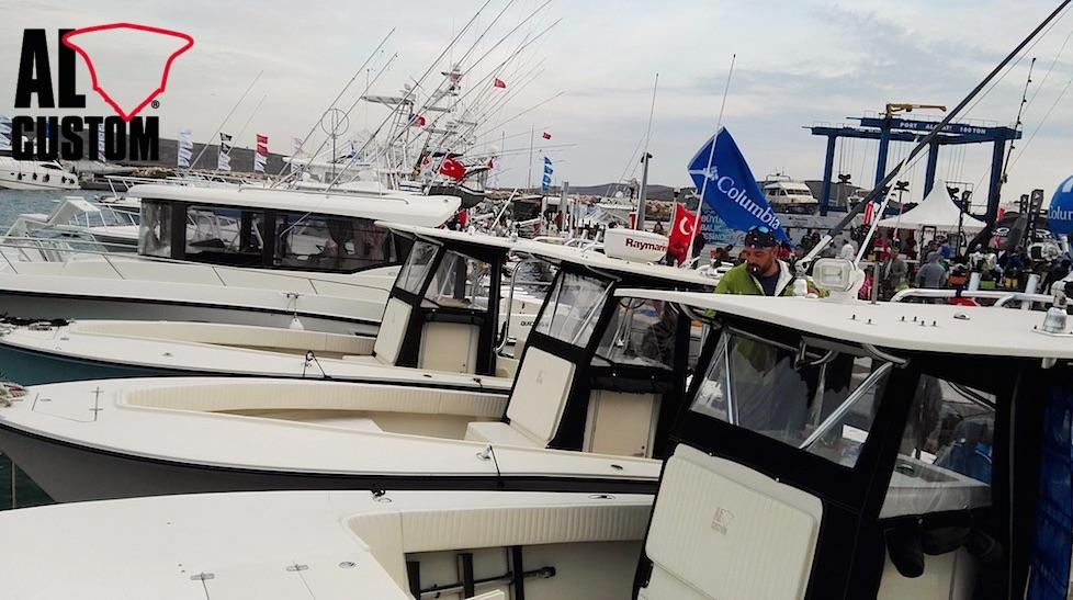 Alaçati Big Fish Tournament, gara di pesca in Turchia. ALCUSTOM presente con 5 fishing boat.