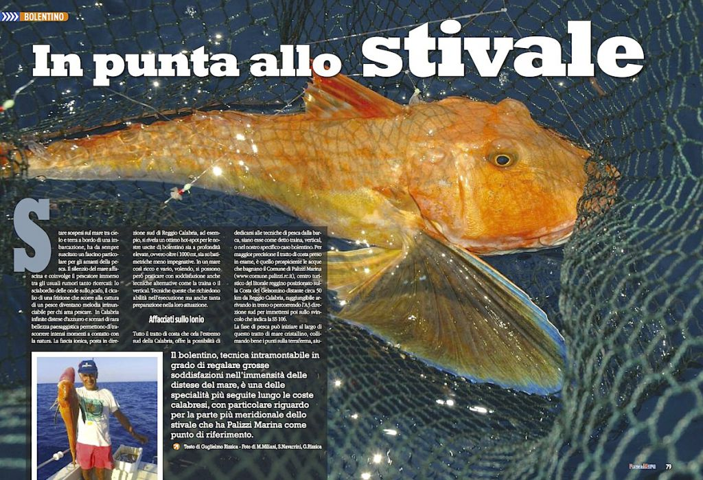 Pesca a bolentino: il sud della Calabria. Pesca a bolentino nella zona di Palizzi Marina