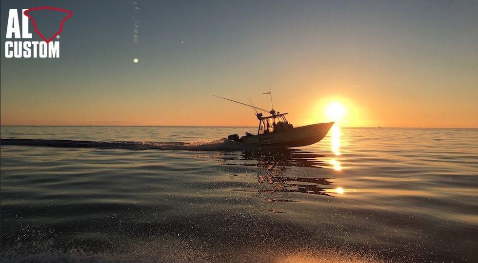 """Fishing boat ALCUSTOM AL25 """"Malefica"""", progetto hi-tech. Scafo in fibra di carbonio."""