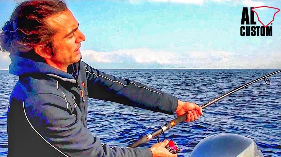 Spinning al tonno su ALCUSTOM AL25. Spinnig sulle mangianze in Liguria.