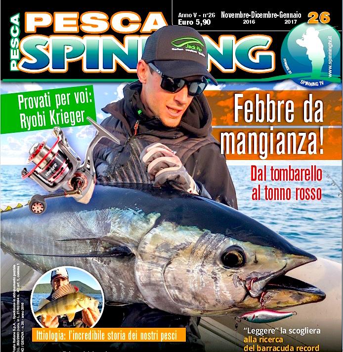 Pesca Spinning, rivista di pesca dedicata allo spinning. Spinning in mare.