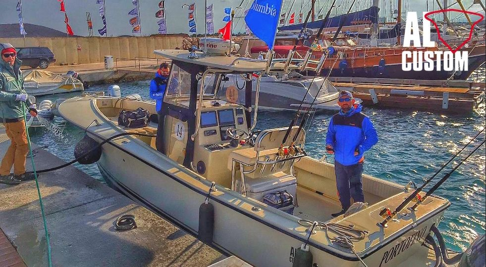 "Fishing boat ALCUSTOM AL25 ""Portofino"" in gara all'Alaçati Big Fish Tournament 2016. drifting al tonno"