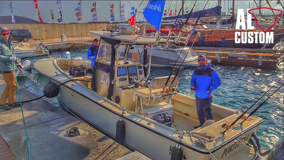 "Fishing boat ALCUSTOM AL25 ""Portofino"" in gara all'Alaçati Big Fish Tournament 2016. drifting al tonno"