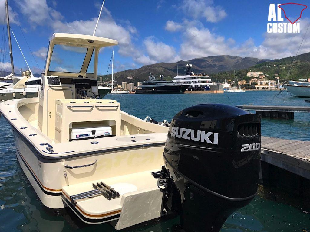 Fishing boat ALCUSTOM AL23 e il fuoribordo Suzuki DF200AP: alta tecnologia.